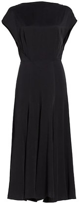 TOVE Merloe Silk Midi Dress