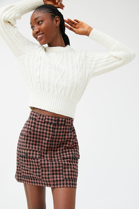 Urban Outfitters Avril Plaid Utility Mini Skirt