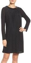 Adrianna Papell Burnout Velvet Trapeze Dress