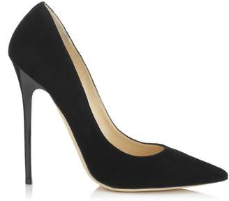 Jimmy Choo ANOUK Black Suede Pointy Toe Pumps