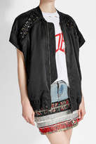 Faith Connexion Short Sleeved Jacket with Lace-Up Detail