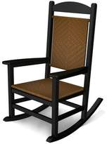 Polywood Presidential Rocking Chair Color: Tigerwood Weave & Black