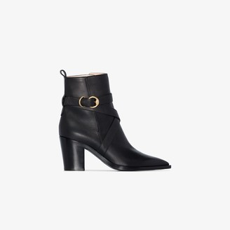 Gianvito Rossi Black 70 western style ankle boot