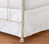 Pottery Barn Reeve Matelasse Organic Cotton Daybed Bed Skirt