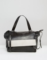Urban Code Urbancode Leather Shoulder Bag With Contrast Flap Detail