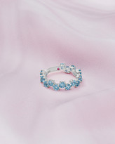 Ted Baker 9ct White Gold And Blue Topaz Shuffle Ring