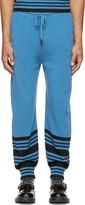 J.W.Anderson Blue Merino Wool Striped Show Tracksuit Pants