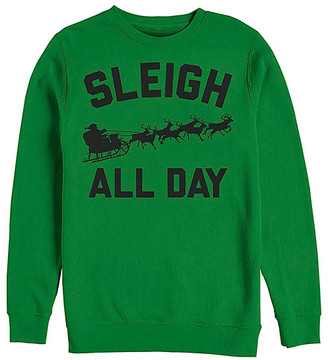 Fifth Sun Men's Sweatshirts and Hoodies KELLY - Kelly Green 'Sleigh All Day' Crewneck Sweatshirt - Men