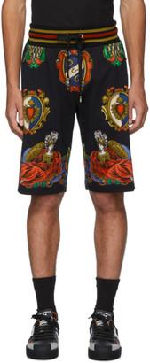 Dolce & Gabbana Black Emblem Shorts