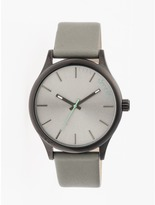 Simplify The 2400 Collection SIM2403 Men's Stainless Steel Watch with Leather Strap