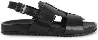 Grenson Wiley black leather sandals