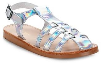 Freshly Picked Baby Girl's & Little Girl's Holographic Bixby Sandals