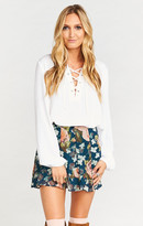 MUMU Skater Stretch Skirt ~ Fall in Love Floral