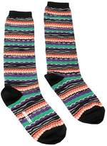 Missoni Gm00cmd4939 0003 Green/orange Knee Length Socks.