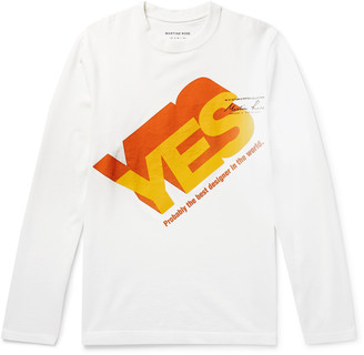 Martine Rose Yes Logo-Print Cotton-Jersey T-Shirt