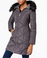 GUESS Faux-Fur-Trim Puffer Coat