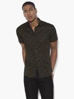 John Varvatos Short Sleeve Floral Shirt