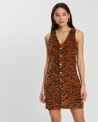 MinkPink Threaten Cord Dress