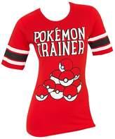 Bioworld Pokemon Trainer Pokeball Womens Hockey T-shirt-xl