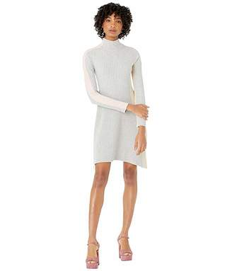 Sportmax Medeola Color Blocked Turtleneck Dress