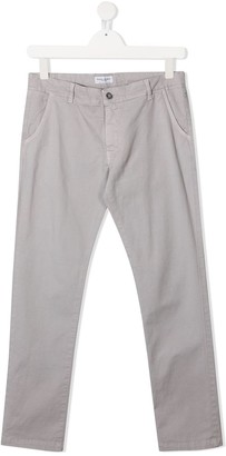 Paolo Pecora Kids TEEN logo patch fitted trousers