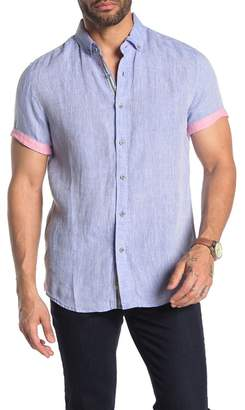 Report Collection Short Sleeve Solid Linen Shirt