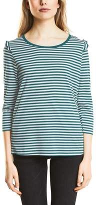 Street One Women's's 311919 Longsleeve T - Shirt Multicolour (Black 20001) 16