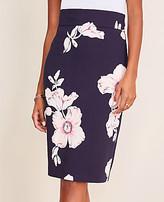 Ann Taylor Petite Floral High Waist Pencil Skirt