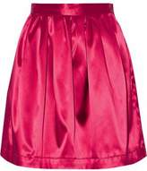 MSGM Pleated Satin Mini Skirt