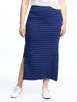 Old Navy Fitted Plus-Size Maxi Skirt