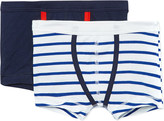 Petit Bateau Pack of two cotton boxers 2-12 years