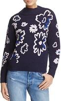 Rebecca Taylor Floral Intarsia Sweater