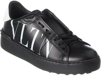 Valentino Vltn Open Leather Sneaker