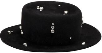 Ruslan Baginskiy Crystal Embellished Hat