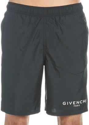 Givenchy Paris Long Swim Shorts