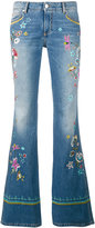 Ermanno Scervino embroidered bootcut jeans