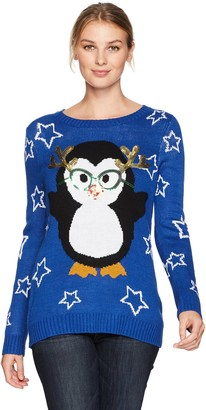 Notations Women's Ugly Funny Penguin Christmas Sweater XL