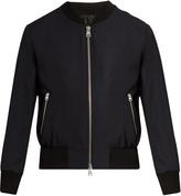 Ami Teddy-collar wool bomber jacket