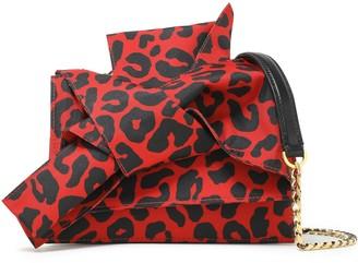 N°21 N21 Knotted Leopard-print Satin-twill Shoulder Bag