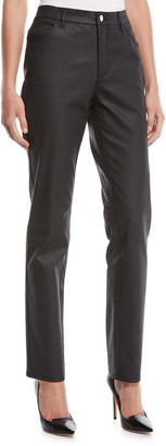 Lafayette 148 New York Thompson Curvy Slim-Leg Waxed Denim Jeans