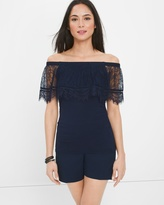 White House Black Market Off-The-Shoulder Lace Top