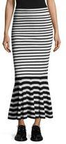 McQ by Alexander McQueen Twisted Stripe Skirt