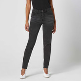 DSTLD Vintage High Rise Jeans in Faded Black