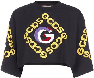 GCDS College Crop T-Shirt