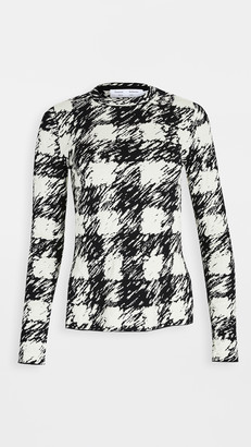Proenza Schouler White Label Jacquard Long Sleeve Knit Top