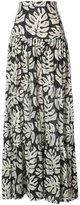 Chloé palm leaves skirt - women - Cotton/Polyester/Wool - 36