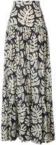 Chloé palm leaves skirt - women - Polyester/Cotton/Wool - 36