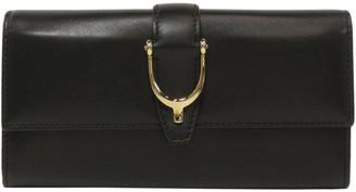 Gucci Black Leather Stiletto Wallet