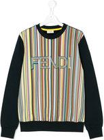 Fendi striped logo sweatshirt