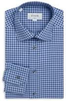 Eton Slim Fit Checked Cotton Dress Shirt